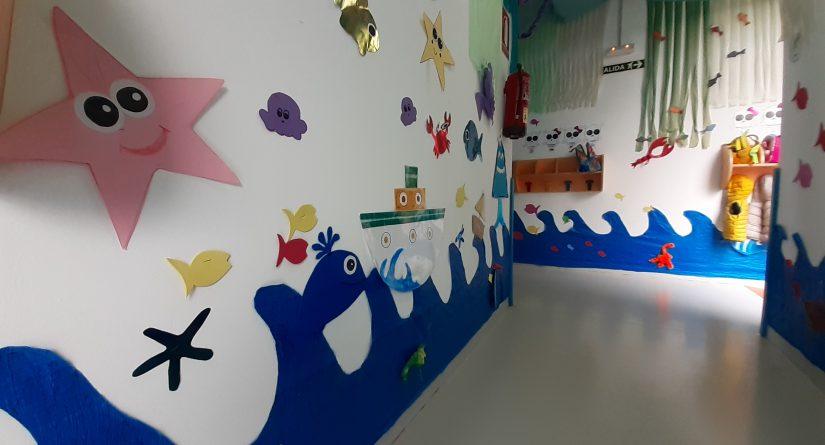 Pasillos decorados de nuestra escuela infantil
